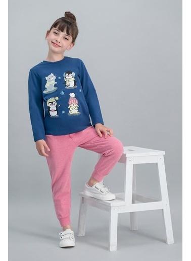 Roly Poly Rolypoly  Karmelanj Kız Çocuk Pijama Takımı Lacivert